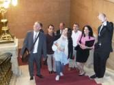 Mariela Castro bei Rathaus Besichtigung