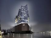 Elbphilharmonie West-Ansicht Nacht