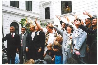 Massentrauung Rathaus Altona 2001