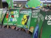 Plakatierparty Gegen Schwarz-Gelb hilft nur Grün