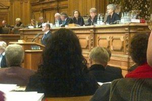 Olaf Scholz spricht in der Bürgerschaft