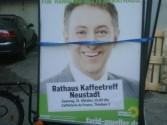 Plakataufstellung Rathaus Kaffeetreff Neustadt