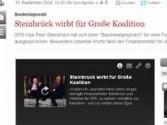 Steinbrück wirbt für Große Koalition