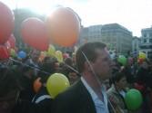 Rainbowflash auf dem Rathausmarkt