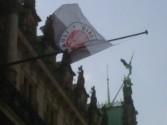 FC St. Pauli Fahne am Rathaus